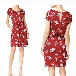 Lucky Brand NWT Wildflower Dress Small Red